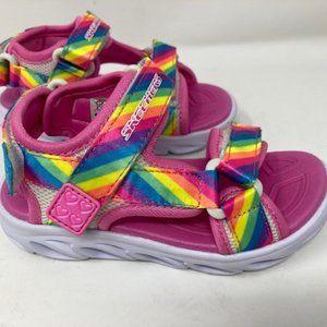 SKECHERS KIDS Sport Lighted Sandal Toddler Sz 9